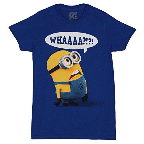 Despicable Me Whaaaa?? Minion T-shirt (XXX-Large, blue)
