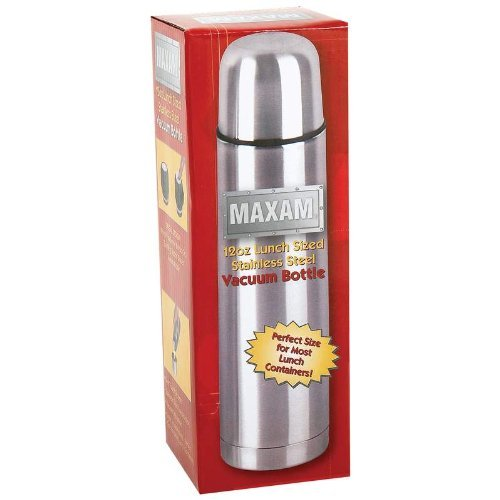 Maxam KTHERM35 12 oz Lunch Sized Stainless Steel Vacuum Bottle by Maxam