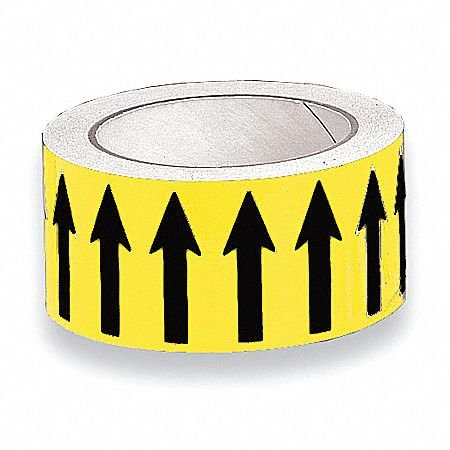 Banding Tape, Yellow, Vinyl, 2'' x 54 ft. pack of 5