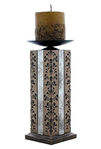 9.5 Inch Abbey Candle Holder 31Cm Including Candle Black Filigree ()