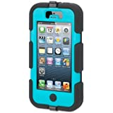 Griffin 605529-SFPB Survivor Case for iPhone 5/5S - 1 Pack - Retail Packaging - Black/Pool Blue