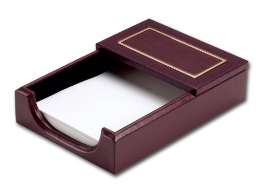 Dacasso 24-Karat Gold Tooled Burgundy Leather Memo Holder by Dacasso