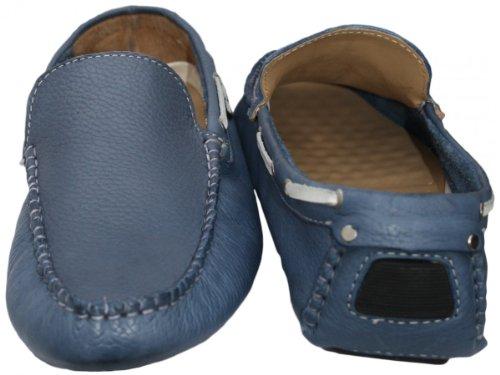 Leather Blue German Driving Casual Lederschuhe Moccasin Shoes Wear moc Nubuck qqS486