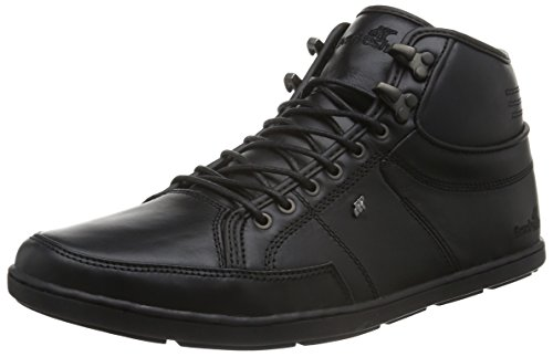Boxfresh Swapp Prem Blok Uh Lea - Zapatillas Hombre Negro - Schwarz (Black/Black)