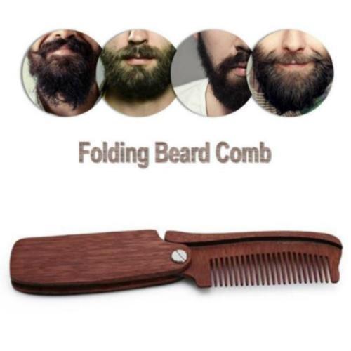 OKOKMALL US--Folding Wood Comb Anti Static