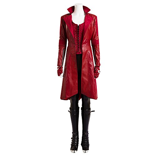 costory Captain America 3 Scarlet Witch Wanda Django Maximoff Cosplay Costume -