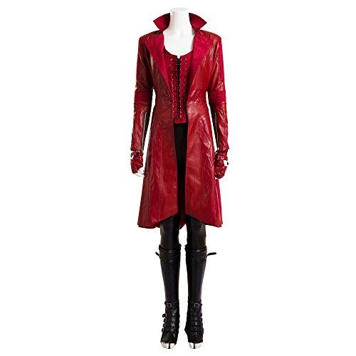 costory Captain America 3 Scarlet Witch Wanda Django Maximoff Cosplay Costume -