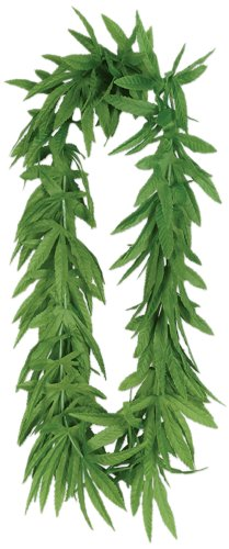 Tropical Fern Leaf Lei (green) Party Accessory  (1 count)]()