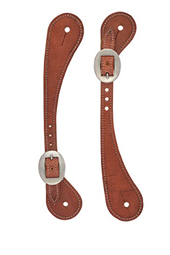 (Weaver Leather Mens Shaped Harness Leather Spur Straps)