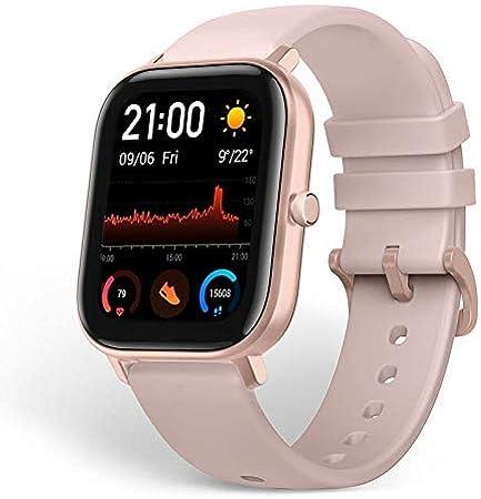 Amazfit GTS Reloj Smartwactch Deportivo | 14 días Batería | GPS+Glonass | Frecuencia Cardíaca | (iOS & Android) Rosa (Reacondicionado)