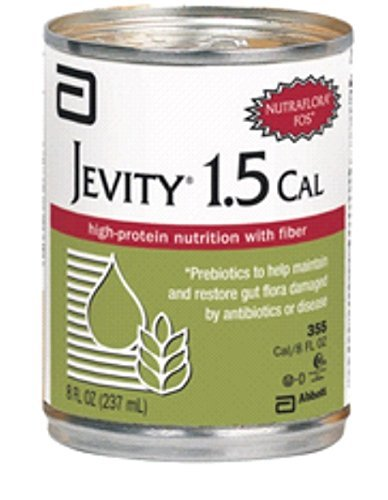 Price comparison product image Jevity 1.5 Cal High Protein Nutrition Drink with Fiber 8oz Cans 24/Case by Abbott
