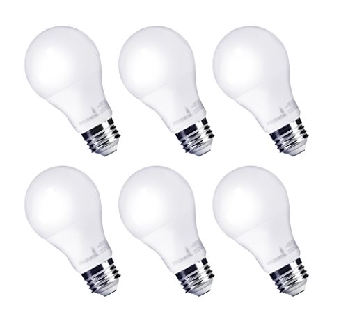 HyperSelect 9W LED Light Bulb A19- E26 Non-Dimmable (60-Watt Equivalent), 3000K (Soft White Glow) , 820 Lumens, Medium Screw Base, Omnidirectional Beam Angle - (Pack of 6)