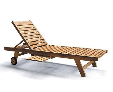 Low priced Teak Garden Sun Lounger with Green Cushion - Jati Brand, Quality  & Value Amazon.co.uk Garden & Outdoors