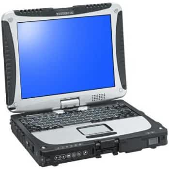 Panasonic Toughbook 19 Touchscreen PC version - Core 2 Duo SU9300 / 1.2 GHz - Centrino 2 with vPro - RAM 2 GB - HDD 160 GB - GMA 4500MHD - cellular wireless ready - Gigabit Ethernet - WLAN : Bluetooth 2.0 EDR, 802.11 a/b/g/n (draft) - TPM - Vista Business / XP Tablet PC downgrade - pre-installed: Windows XP - 10.4