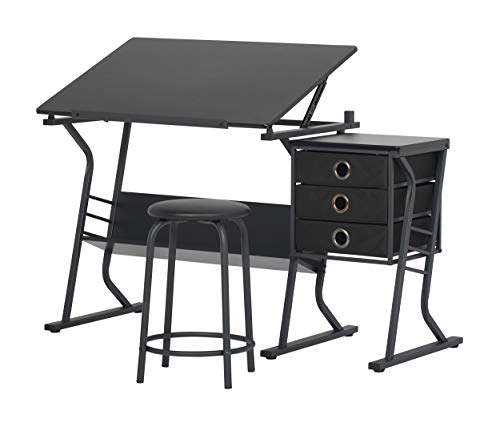 Art Furniture - STUDIO DESIGNS Eclipse Craft Center in Black / Black 13365