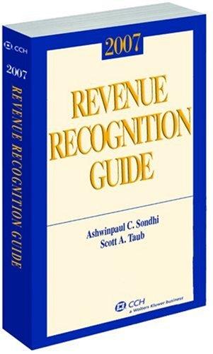 Revenue Recognition Guide (2007) (Miller) (Scott Taub)