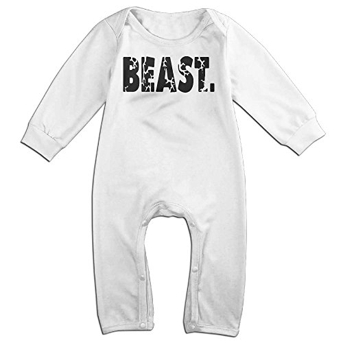 KIDDOS Baby Infant Romper Beast Letter Long Sleeve Jumpsuit Costume,White 6 M (Fraggle Costume)