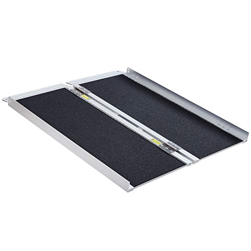 """Extra Wide-31"""" Wide, 36"""" Long, 800 lbs Weight Capacity, Wheelchair Ramp, Ramps for Wheelchairs, Wheelchair Ramps for Home, Portable Wheelchair Ramp, Wheelchair Ramps for Steps, Aluminum Alloy"""