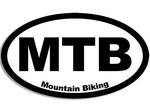 American Vinyl Oval MTB Mountain Biking Sticker (bike offroad biker off road dirt)