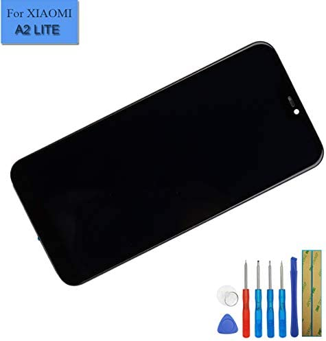 Smartillumi for LCD Screen Replacement LCD Screen and Digitizer Full Assembly with Frame for Xiaomi Redmi 6 Pro A2 Lite Black Color : Black