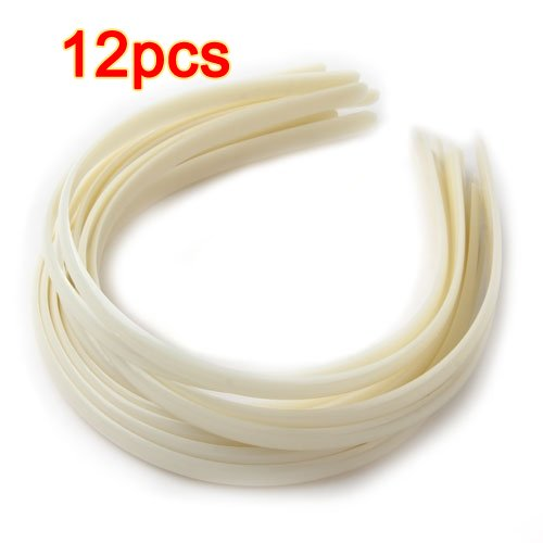 12X Diadema plástico Cinta Pelo Banda Estilo Simple 10 mm TOOGOO(R)