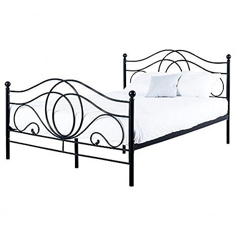 Bett Metallbett Bettgestell Doppelbett Ehebett Bettrahmen Lattenrost 160 x 200