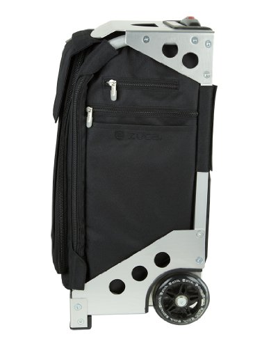 Zuca Flyer Artist Silver Frame with a Black Insert Bag, 5 Clear Vinyl Utility Pouches, and Matching Travel Cover - the Zuca Ultimate by ZUCA (Image #2)