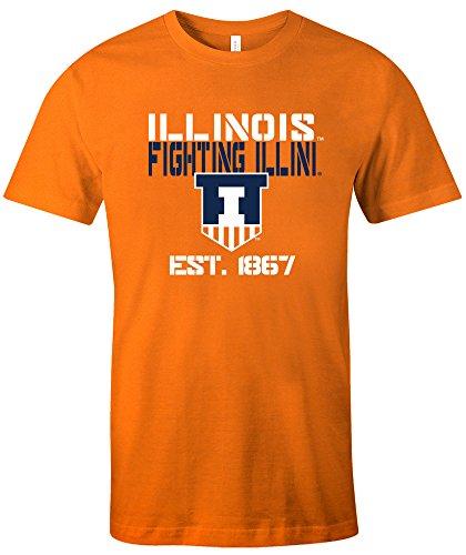 NCAA Illinois Illini Est Stack Jersey Short Sleeve T-Shirt, Orange, Medium - Illinois Football Jersey