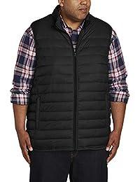 Men's Big & Tall Lightweight Water-Resistant Packable Puffer Vest fit by DXL