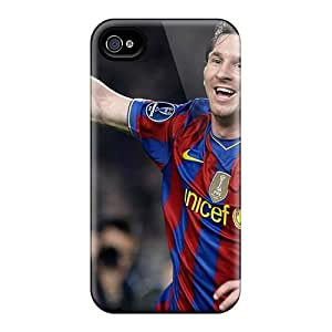 Shock-Absorbing Hard Phone Cases For Iphone 6plus (fIs16001ZMSF) Custom High-definition The Player Of Barcelona Lionel Messi After Goal Ball Image