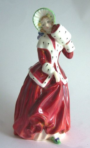 Royal Doulton c1996 figurine HN1992 - Christmas Morn - Red and white dress with gloss finish - GC5