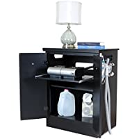 Solid Black CPAP Nightstand with Moisture Resistant Surfaces