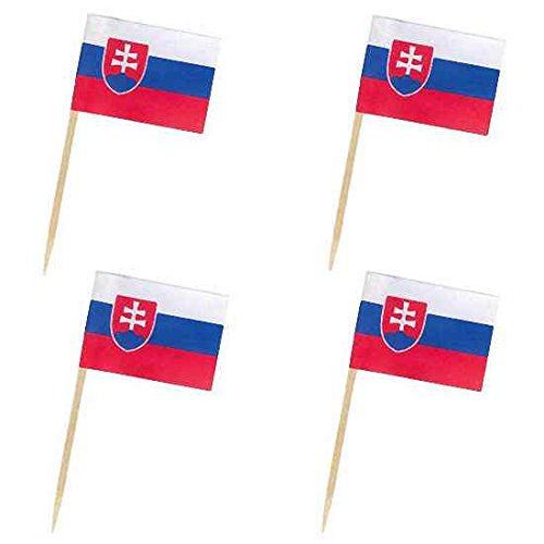 500 Stk Flaggenpicker Deko-Picker Land Slowakei