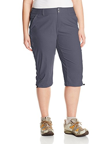 Columbia Women's Saturday Trail II Knee Pant, Water & Stain Resistant,India Ink,18W X 18