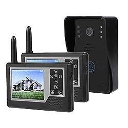 3 5inch Video Intercom Doorbell Tft All Digital Monitor Smart Door Phone Entry Intercom System Kit With 12 Chord Music Ringtones Ir Night Vision Waterproof For Home Security 1 Doorbell 2 Viewer