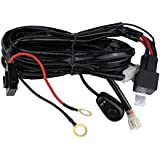 Northpole Light LED Light Bar Wiring Harness, 12V 40A Off Road Jeep LED Light Bar On Off Power Switch Relay Wiring Harness for LED Work Lights Driving fog lights
