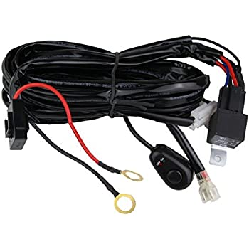 amazon com northpole light led light bar wiring harness 12v 40a rh amazon com led wiring harness fuse led wiring harness #6837003