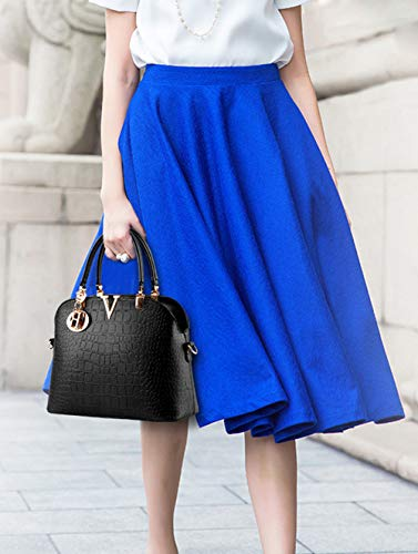 JHVYF Women Claissic Top Handle Handbag Crossbody Casual Purse Satchel Tote