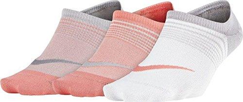 Nike Womens Everyday Plus Lightweight Training Footie (3 pair) Multi-Color Medium