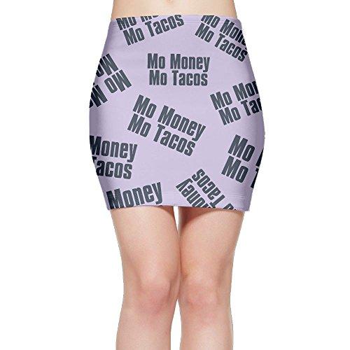 SKIRTS WWE Mo-Money-Mo-Tacos Women Slim Fit High Waist Mini Short Skirts by SKIRTS WWE