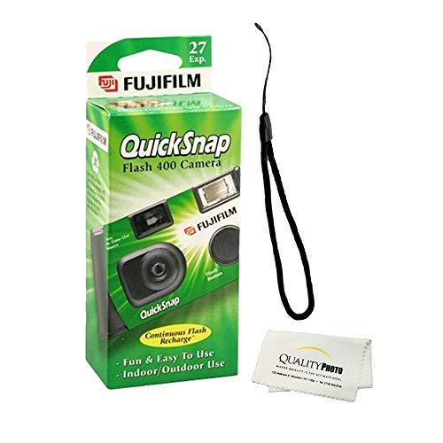 Fujifilm QuickSnap Flash 400 Disposable 35mm Camera + Quality Photo Microfiber Cloth