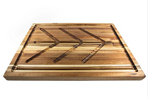 Villa Acacia Wood Carving Board, Extra Large Juice Groove and Well - 24 x 18 x 1.5 Inch by Thirteen Chefs (Image #2)