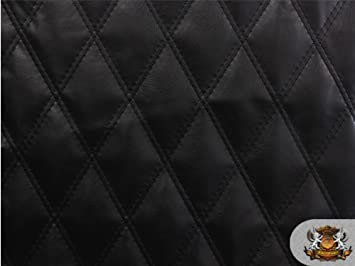 Amazon.com: Quilted Vinyl Fabric with 1/2  Batting Sheet Backing ... : quilted vinyl - Adamdwight.com