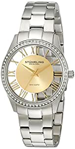 Stuhrling Original Women's 750L.04 Classic Ciara Analog Display Swiss Quartz Silver Watch