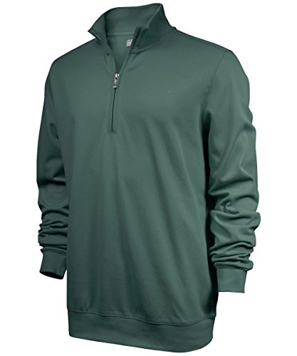 Ashworth Men's Mesh Back Half Zip Pullover (Medium, Fern)