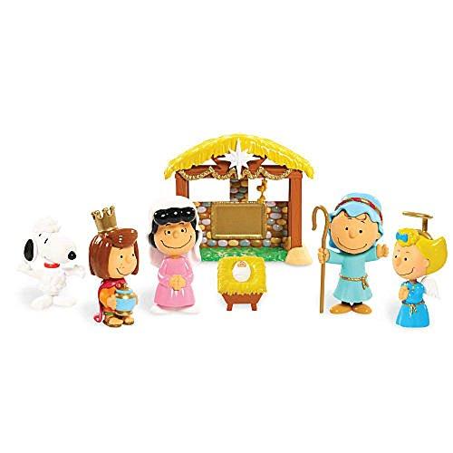 Peanuts Christmas Nativity Deluxe Figure Set]()