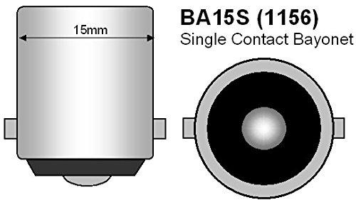 2x White 24v LED BA15s 246 R10w 13 SMD Licence Plate Interior Bulbs HGV Truck