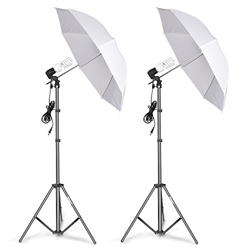 (Emart Photography Umbrella Lighting Kit, 400W 5500K Photo Portrait Continuous Reflector Lights for Camera Video Studio Shooting Daylight)