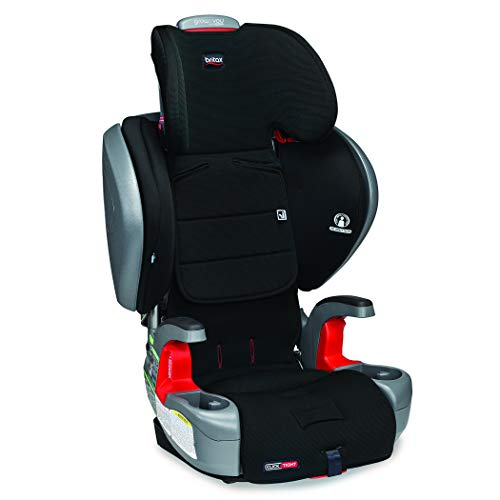 41QljSLrwhL - Britax Grow With You ClickTight Plus Harness-2-Booster Car Seat | 3 Layer Impact Protection - 25 To 120 Pounds, Jet Safewash Fabric [New Version Of Pinnacle]