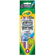 Crayola 8 Metallic Coloured Pencils